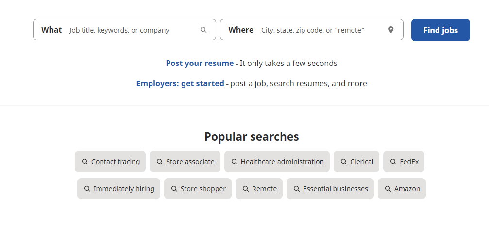 indeed jobs job search